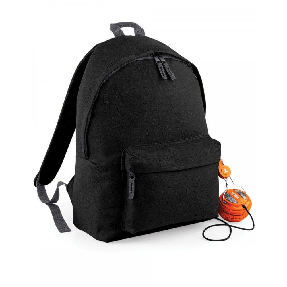 FREE PRINT BACKPACKS-SCHOOLBAG-BAGBASE-BG125-BLACK