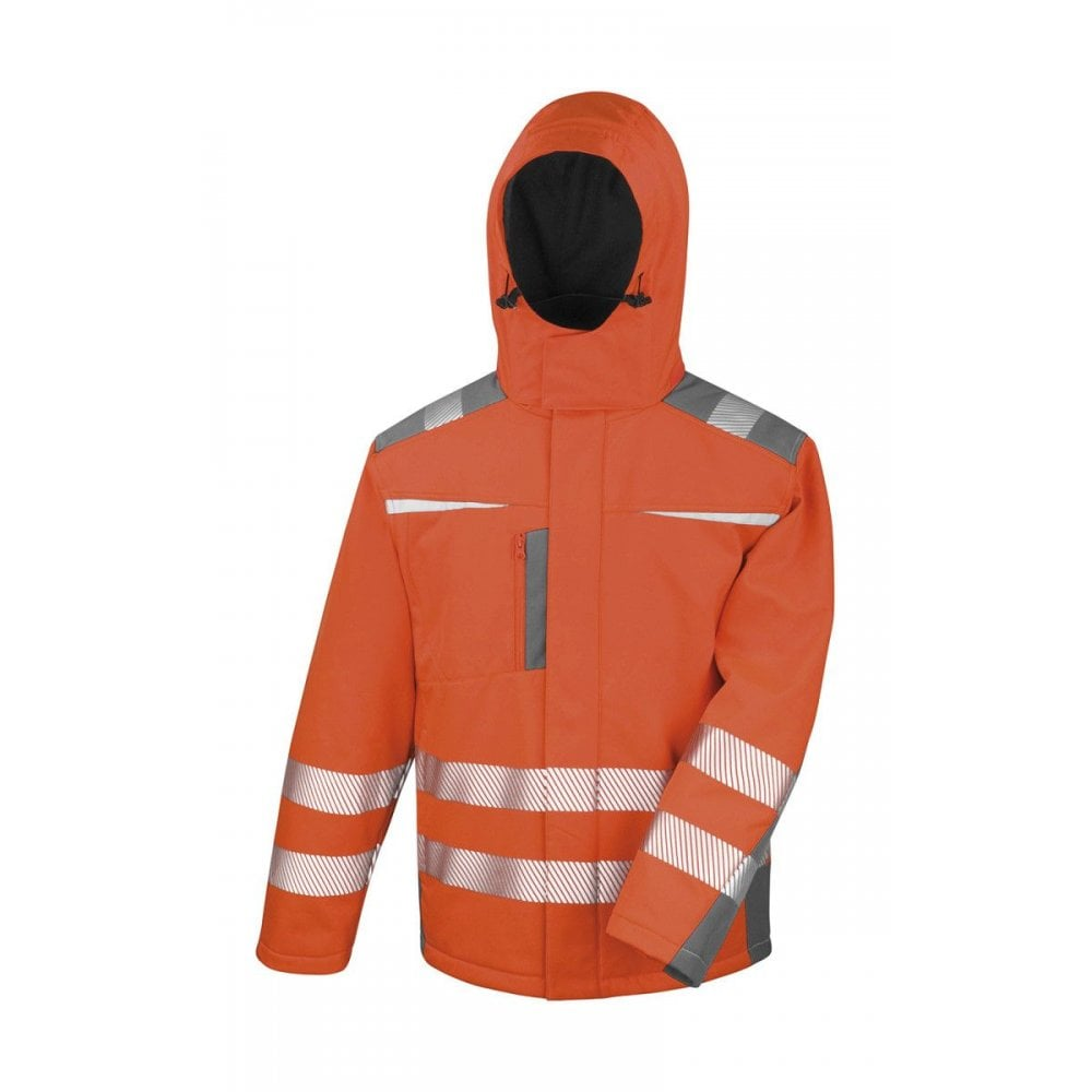 Result Hi-Vis Winter Blouson Jacket Mens Waterproof Reflective Work Wear Coat