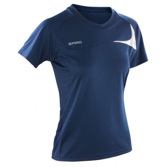 Mens Spiro Dash Training Sport Lightweight Short Sleeve T Shirt Top